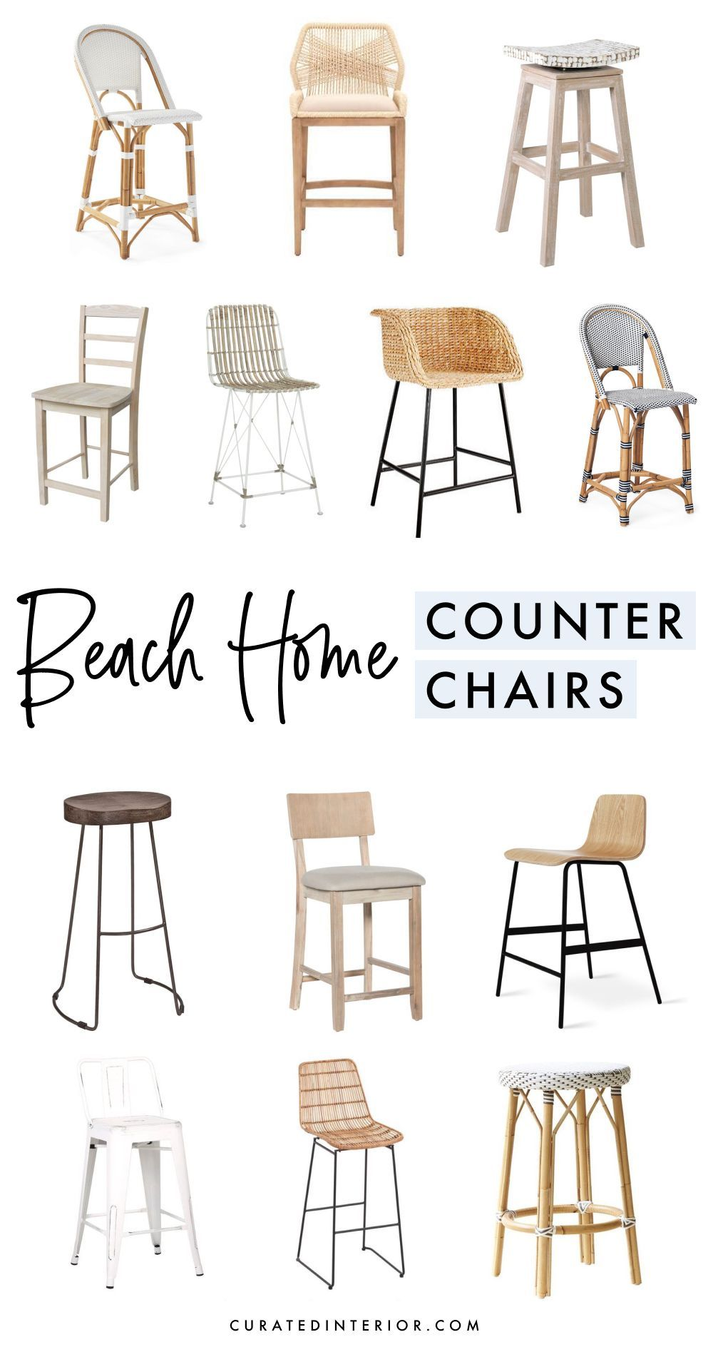 15 Coastal Counter Chairs Bar Stools For Beach Homes Coastal Style Bedroom Coastal Style Bathroom Beach House Decor