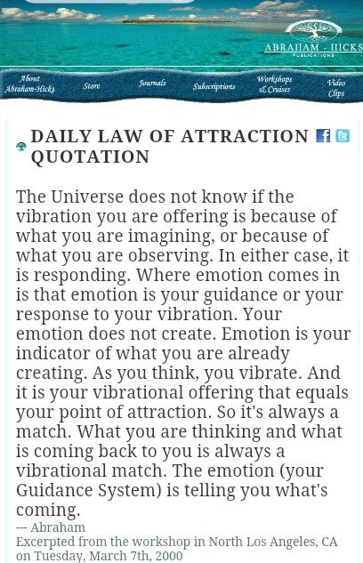 Abraham-Hicks Daily Law of Attraction Quote