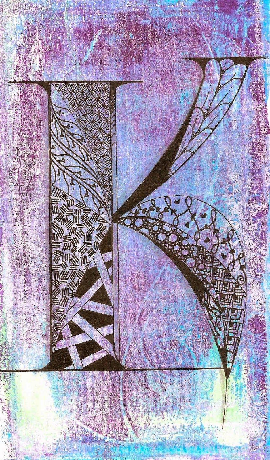 Crafty Leslie's Blog: Print Making & Zentangle Doodles