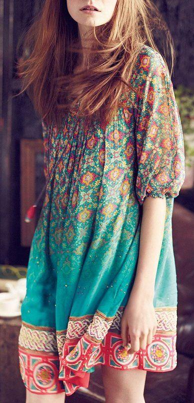 Colorful mandala hippie top