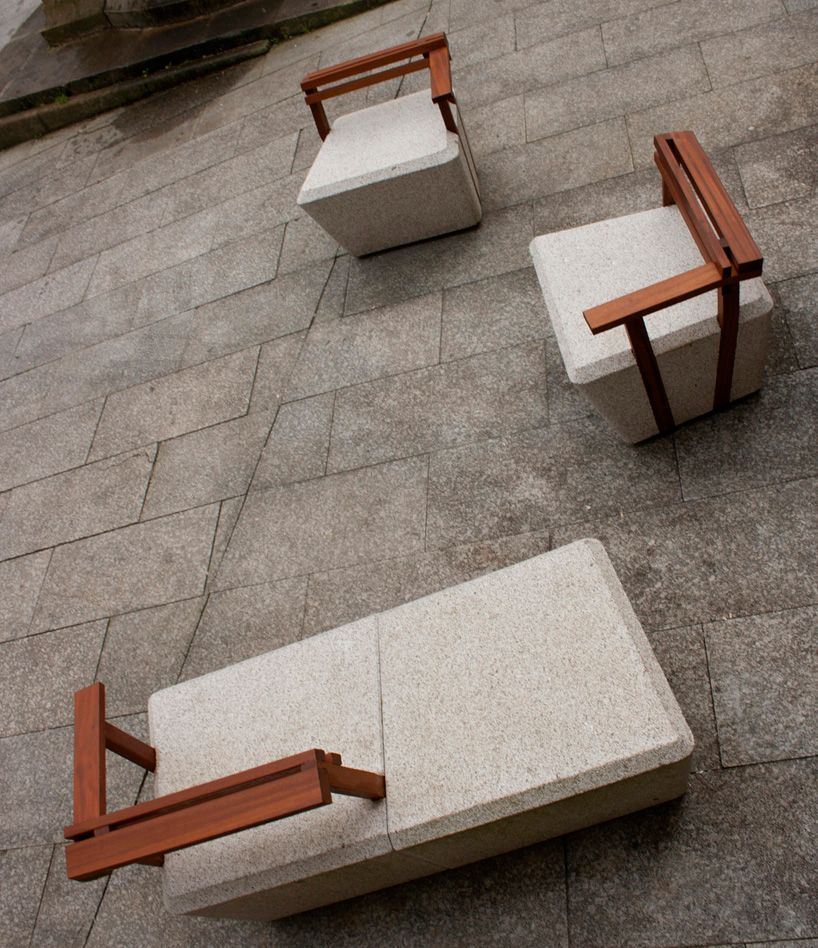 Noia intramuros urban furniture revitalizes public spaces urban furniture pinterest - Muebles gundin noia ...