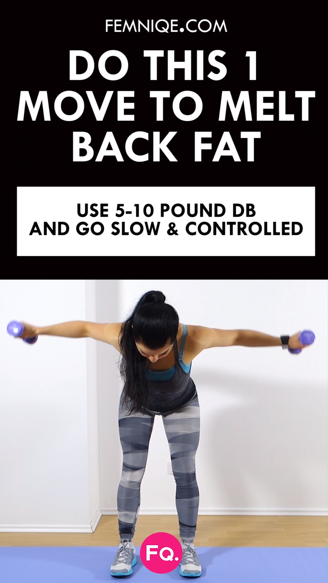 Photo of How To Get Rid of Back Fat (8 Minute Workout)