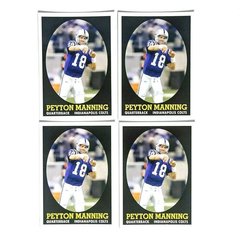 peyton manning topps football card