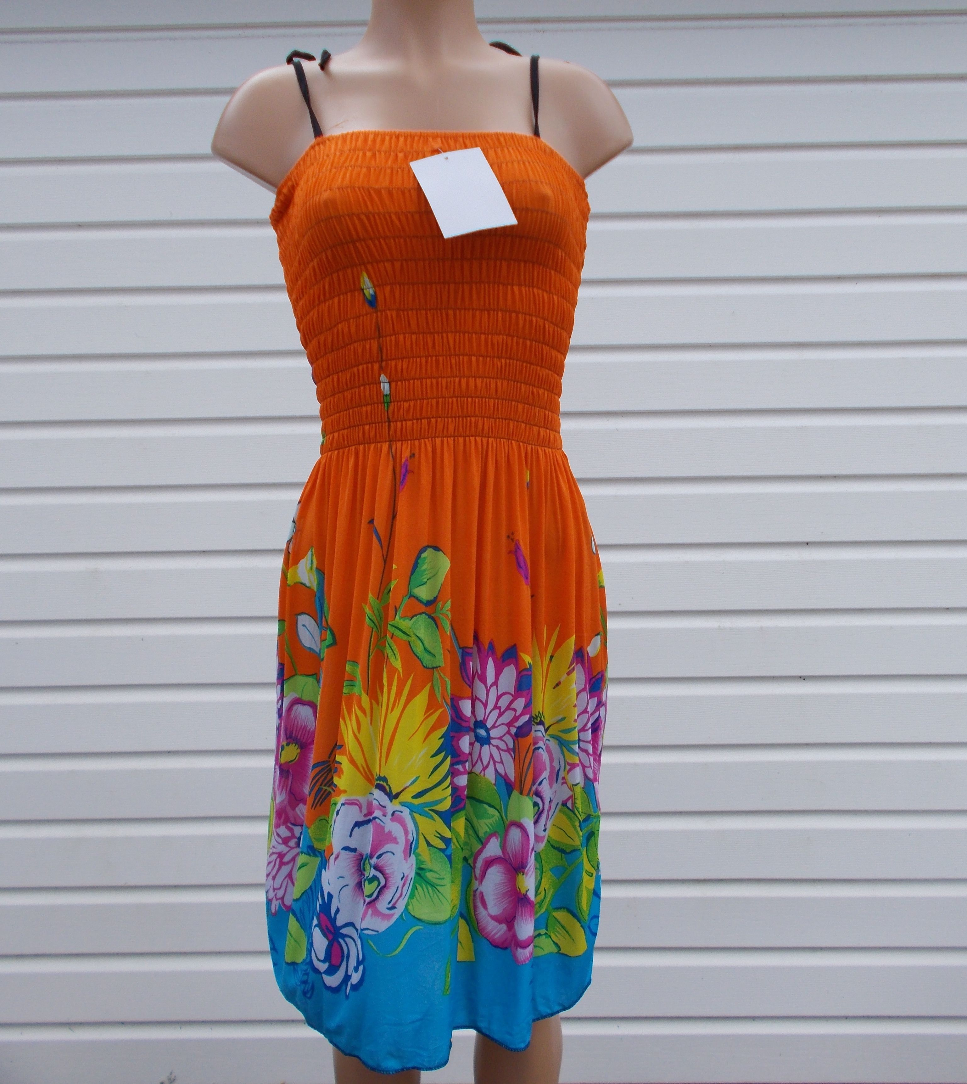 New Item Shi Yunlai sundress size large floral print multi color spaghetti strap material is polyester made in China I only ship to the USA - $14.95