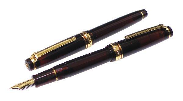 セーラー別注モデル 万年筆 TOBACCO BROWN 報画堂オリジナル ブラウン タバコ プロフェッショナルギアスリム