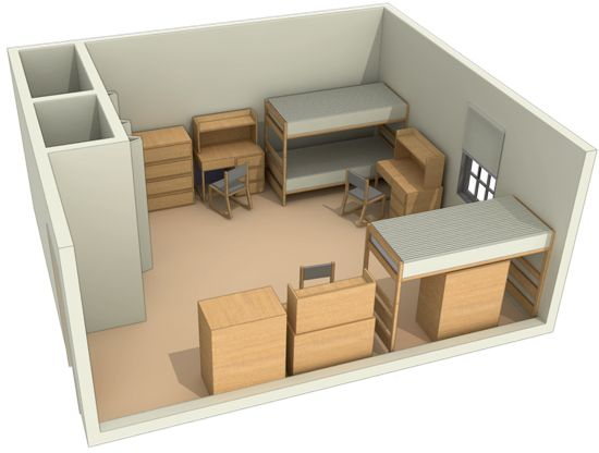 Typical Layout Of A Triple Room At University Of Maryland