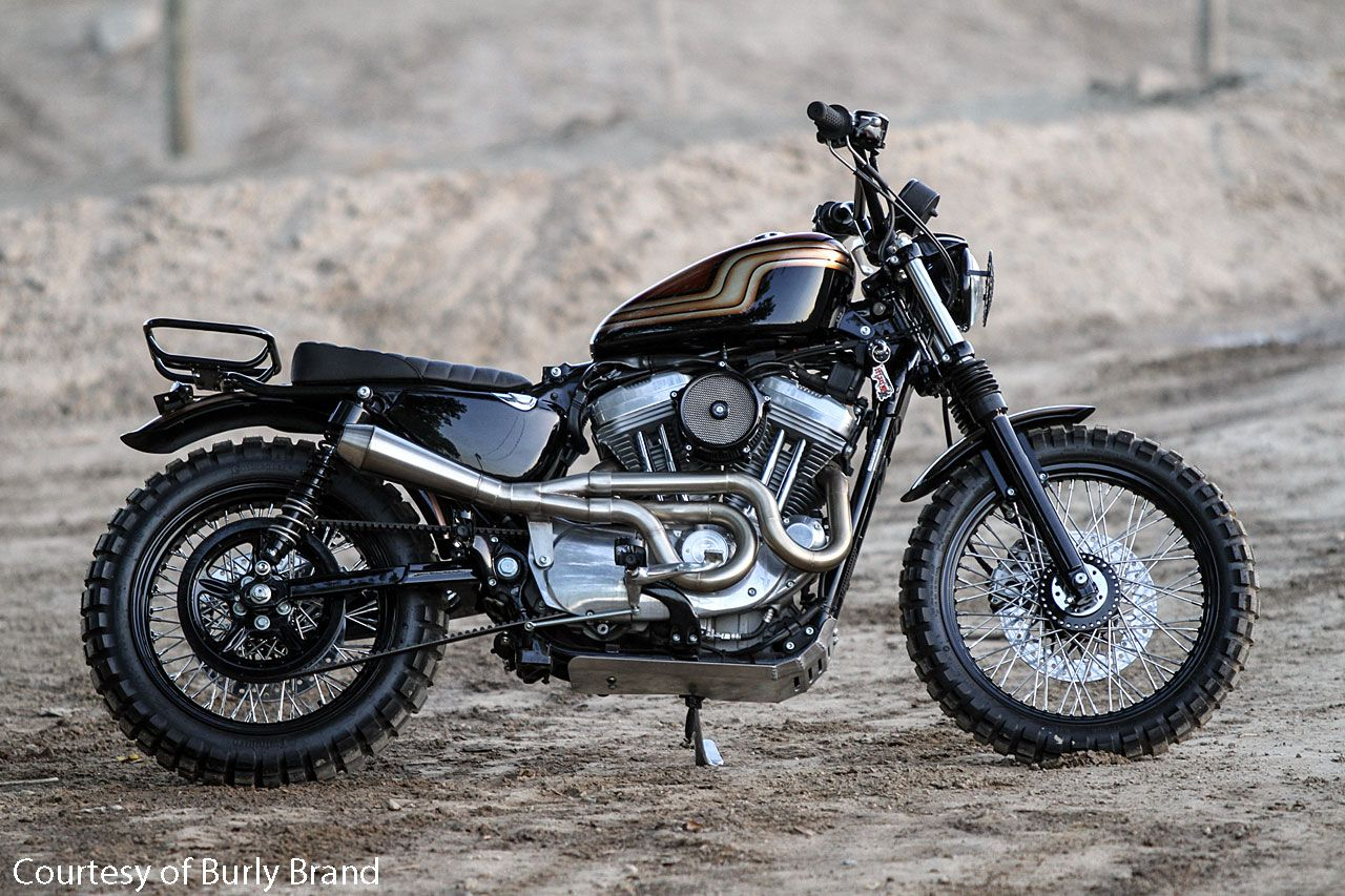 Burly Brand Jackrabbit Sportster Scrambler Motorcycle