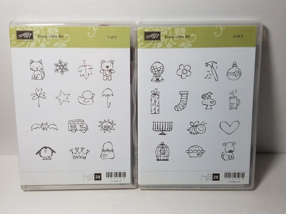 Set of 8 rubber stamps Stampin up Background Bits Retired NEW