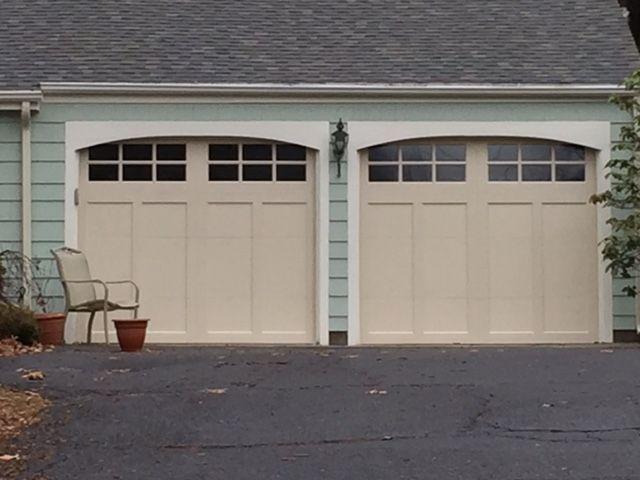 almond garage doorClopay Coachman in Almond installed in Simsbury CT  Garage Doors