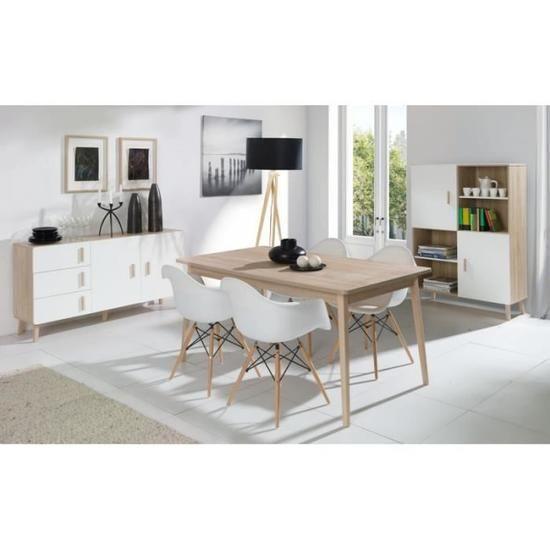 Ensemble Design Oslo Buffet Moyen Modele Table Eextensible 160