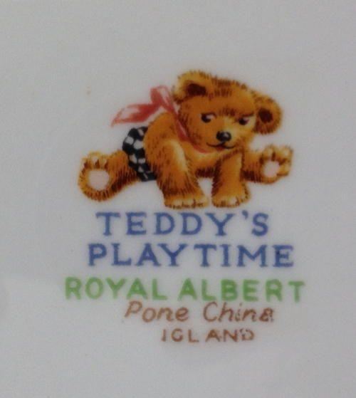royal albert teddys playtime | English - Royal Albert child plate Teddys playtime signed Kennedy bone ...