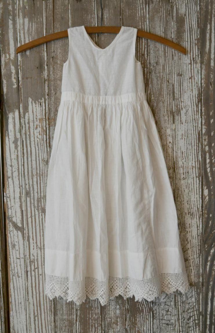 Simple Long White Cotton Dress