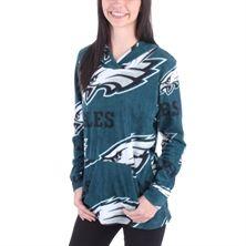 Women's Philadelphia Eagles Midnight Green Ramble Microfleece Pullover Hoodie