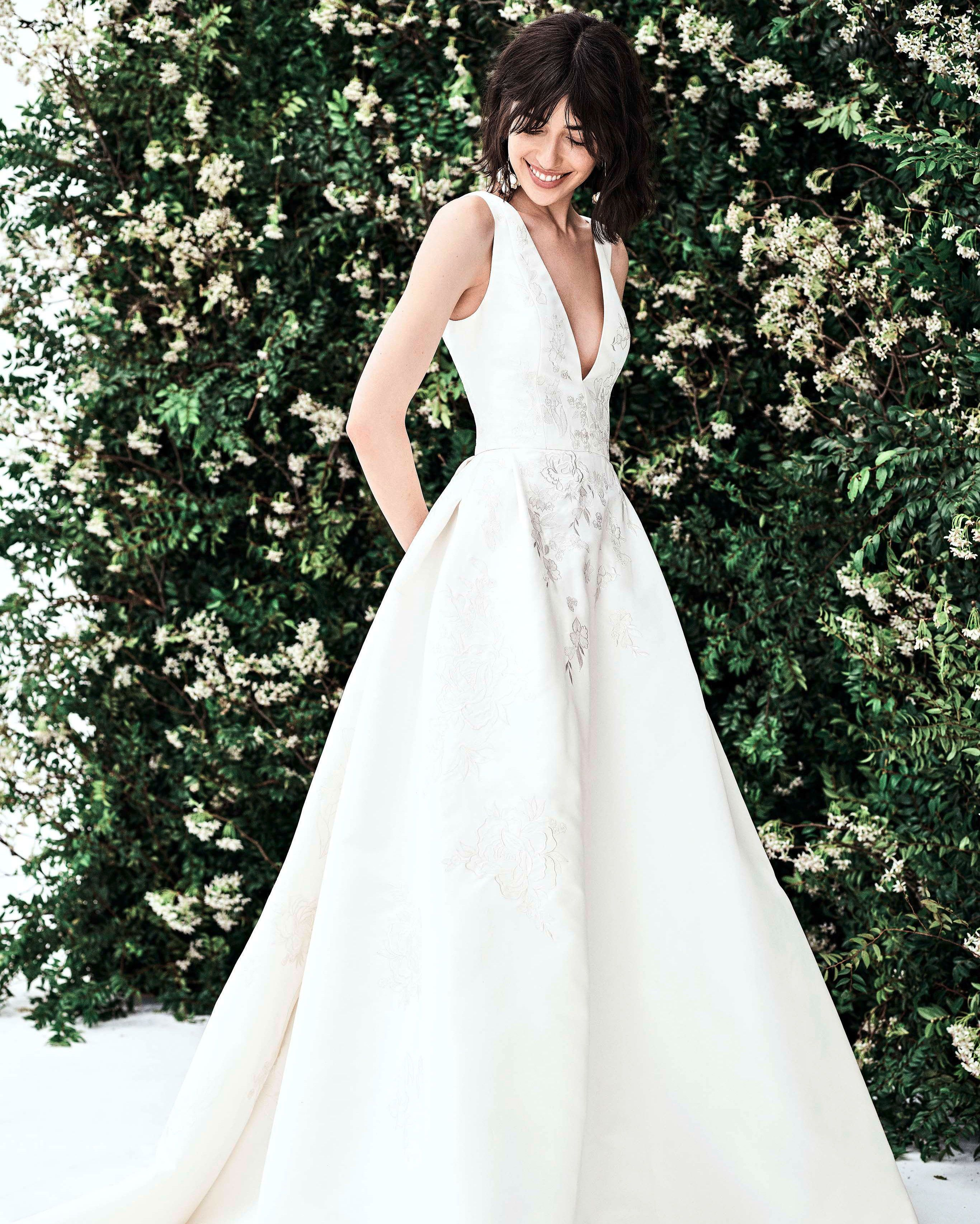 Carolina Herrera Spring 2020 Wedding Dress Collection Carolina Herrera Bridal Carolina Herrera Wedding Dress Designer Wedding Dresses
