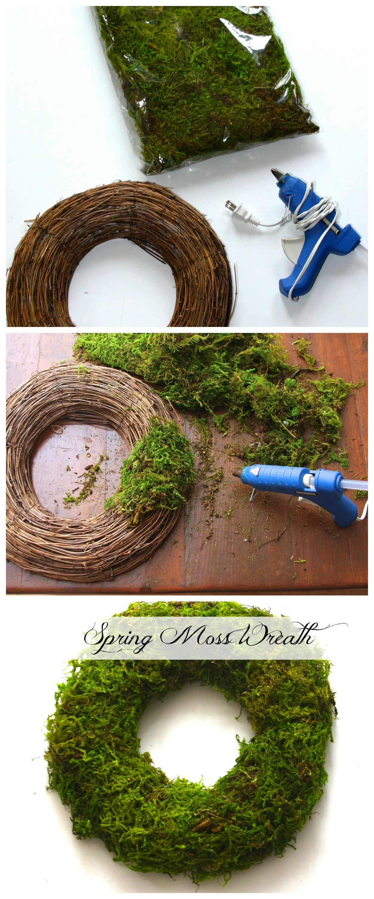 How to make a Moss Wreath. Spring Moss Easter Wreath. | Wreaths ...