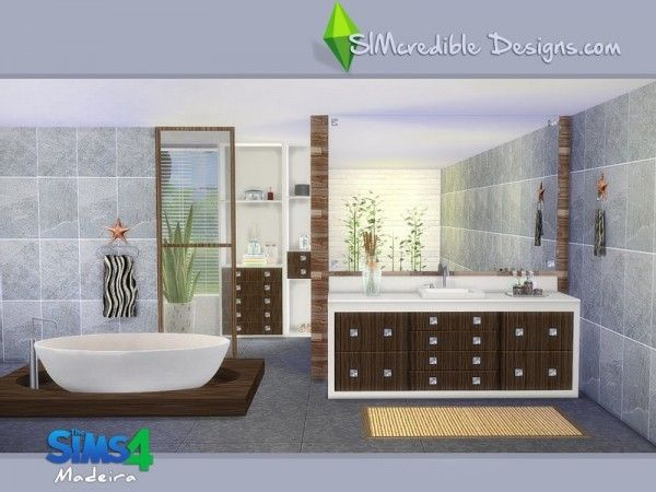 The Sims Resource Madeira By Simcredible Sims 4 Downloads Sims House Modern Bathroom Sims