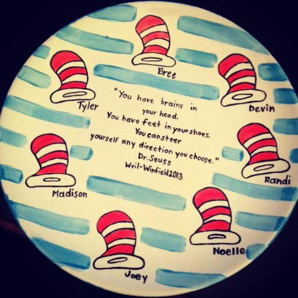 Dr. Seuss platter | end of year gift