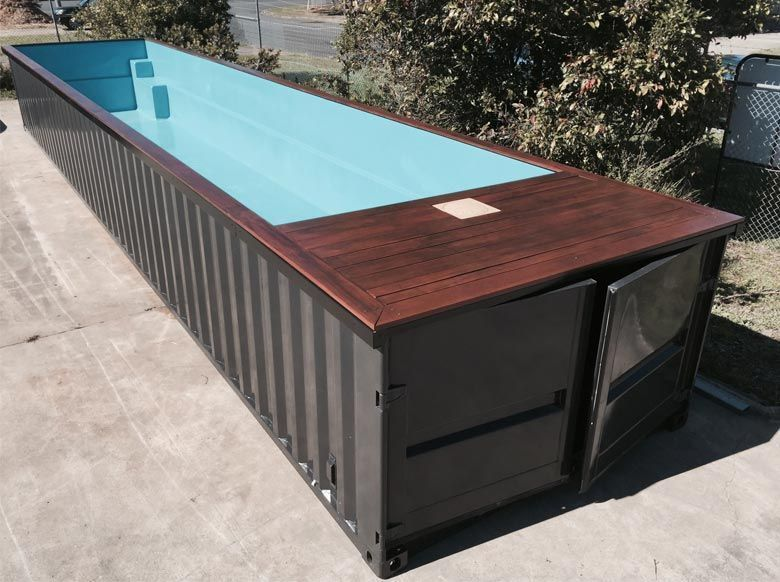 50 Diy Shipping Container Swimming Pool Design Ideas Idea For Above Ground Or Semi In Shipping Container Pool Container Pool Shipping Container Swimming Pool