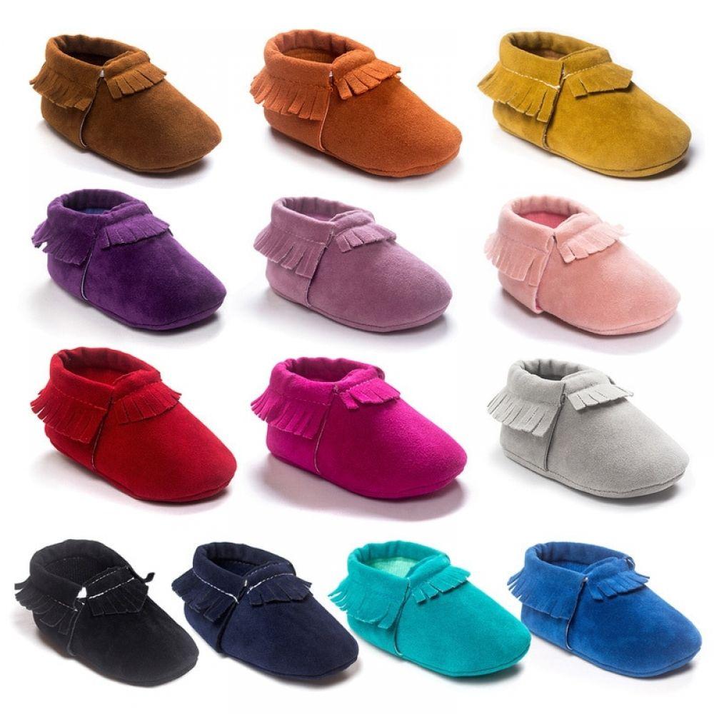 Newborn Boy Girl Leather Moccasins Baby boy shoes