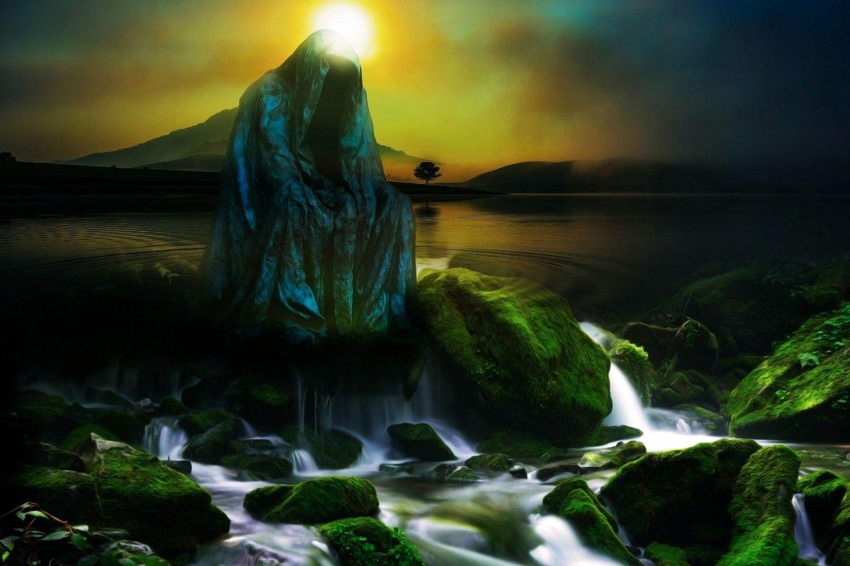 صورة عالية الدقة خالية من غلاف الكتاب والخيال والظلام والغموض والتأليف والغموض والسحر لى Natural Landmarks Photo Waterfall