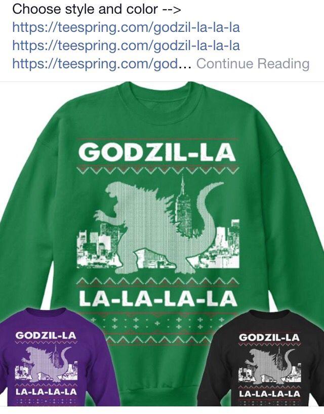 Godzilla Xmas Sweater Monsters Of Movieland Godzilla Super 8