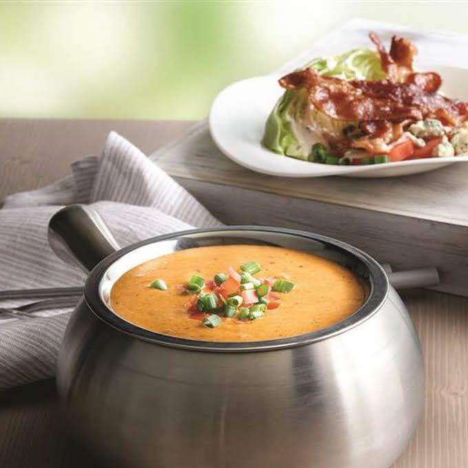 Melting Pot Cheddar Cheese Fondue Recipe | Yummly