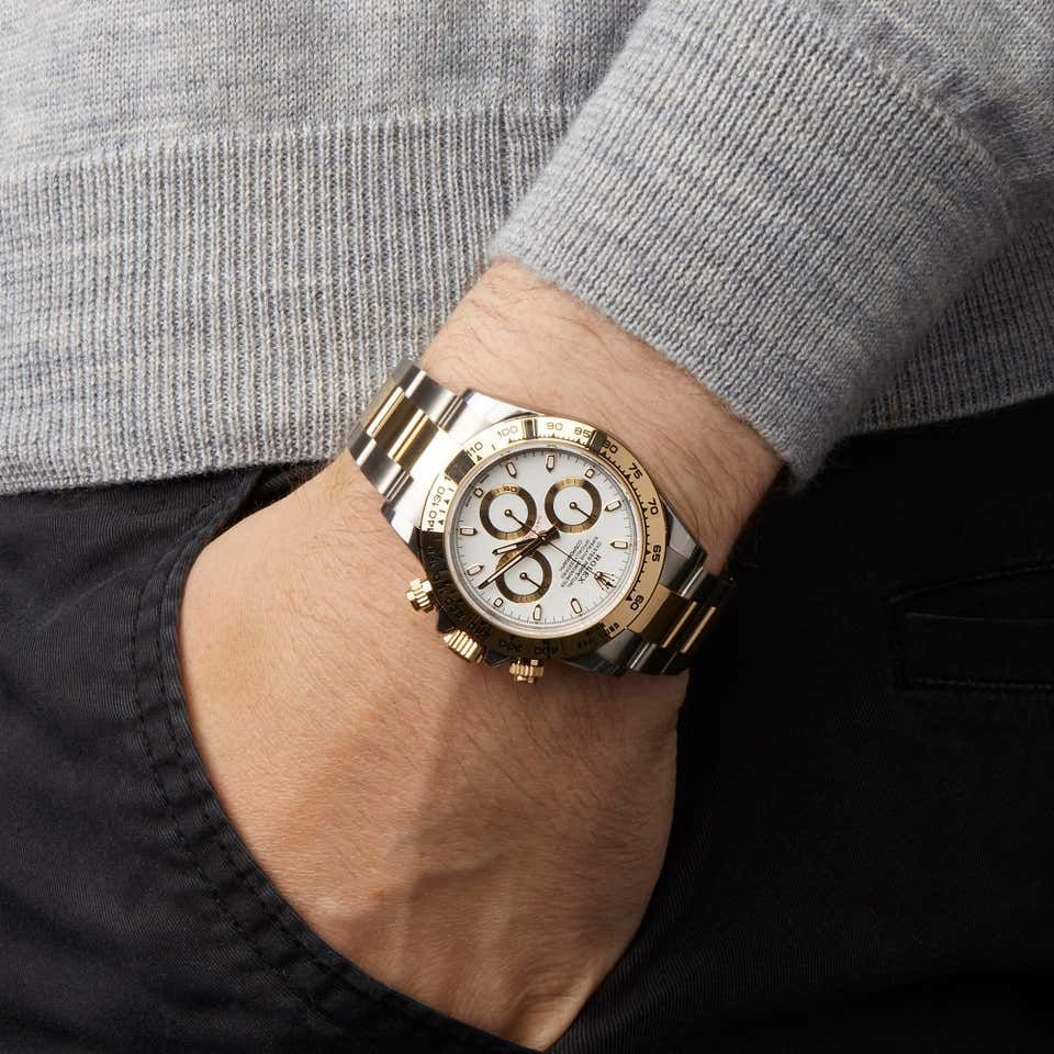 Rolex Daytona Chronograph Stainless Steel And Yellow Gold 116503 Rolex Second Hand Rolex Rolex Daytona
