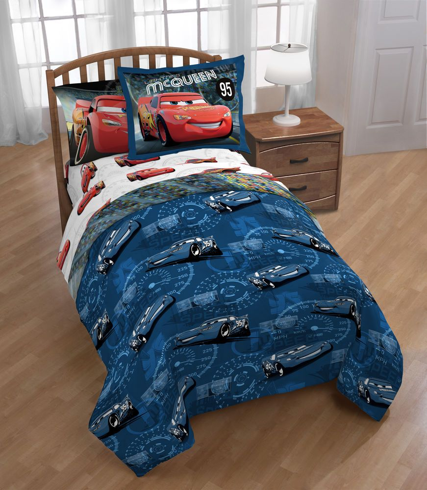Best Kids Cars Twin Size Bed In A Bag Get Ready To Race Blue 400 x 300