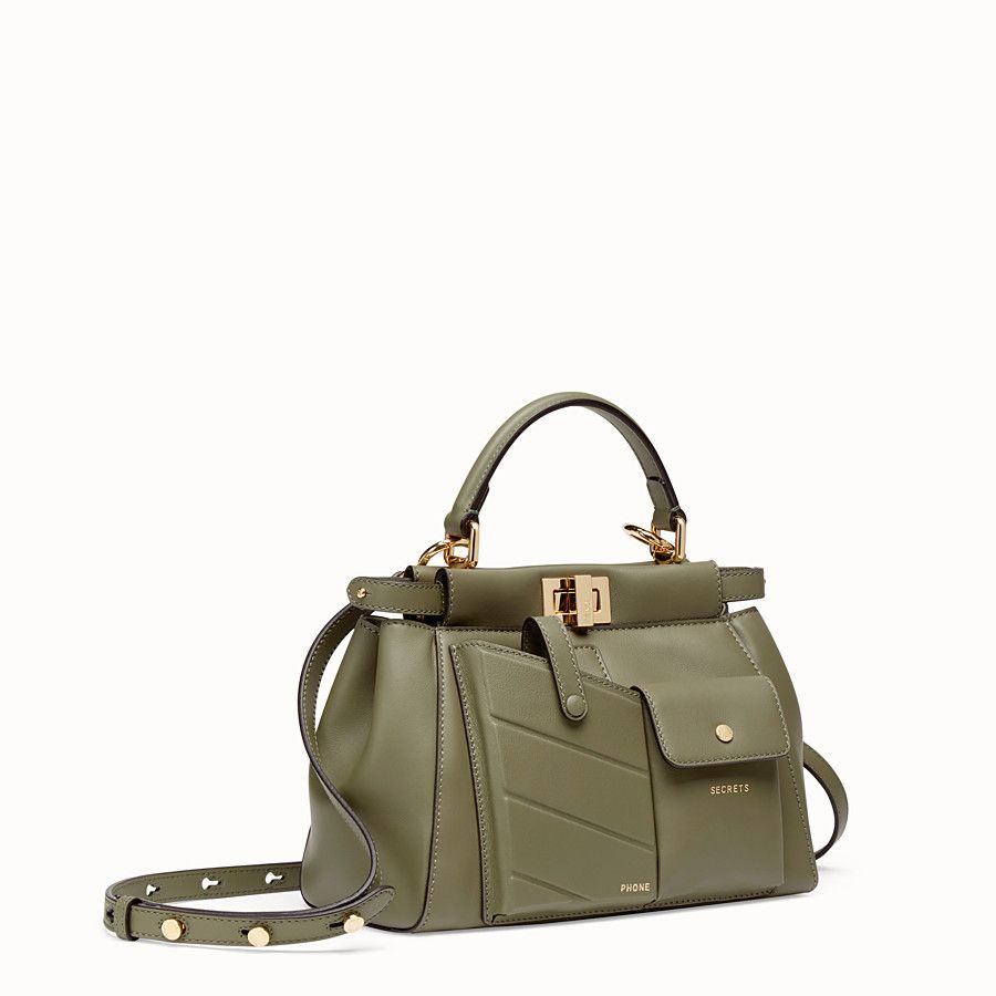 e7abae7eb93b Peekaboo mini pocket in 2019 | BAGS | Bags, Green leather, Fendi ...
