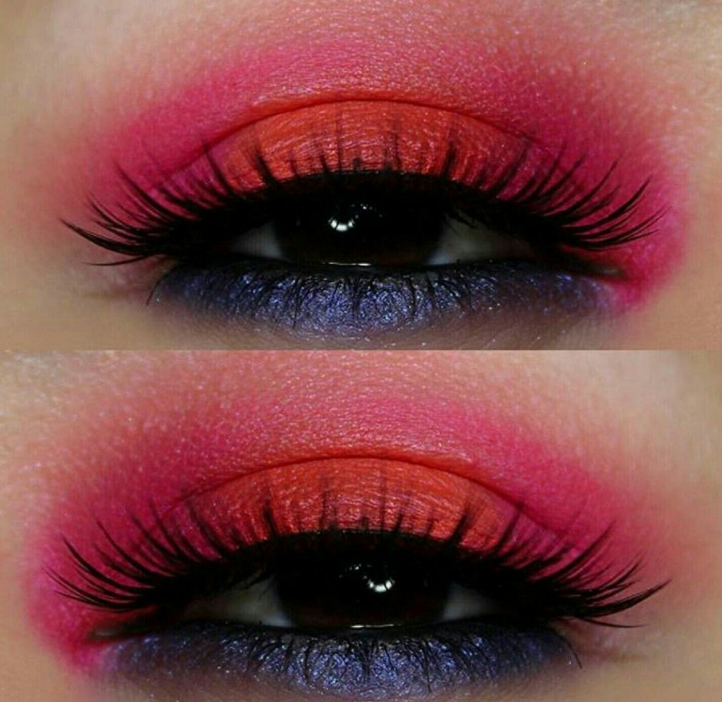 Red and purple eyeshadow (With images) Melt cosmetics