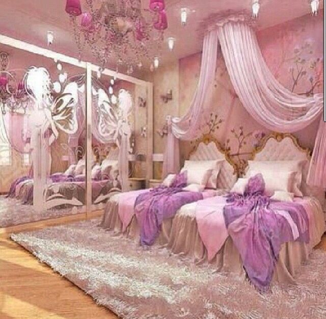 Pink And Purple Princess Room