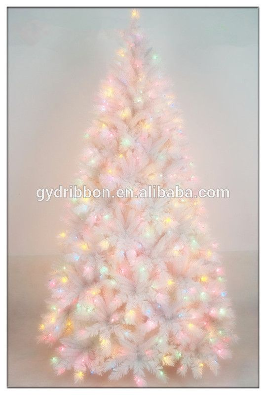 favorable price white christmas tree with blue lights top quality 7ft white led christmas tree