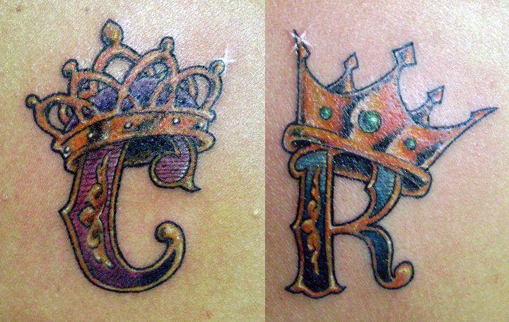 C n r letters crown tattoo designs photo 1 tatuagens for Letter r tattoo