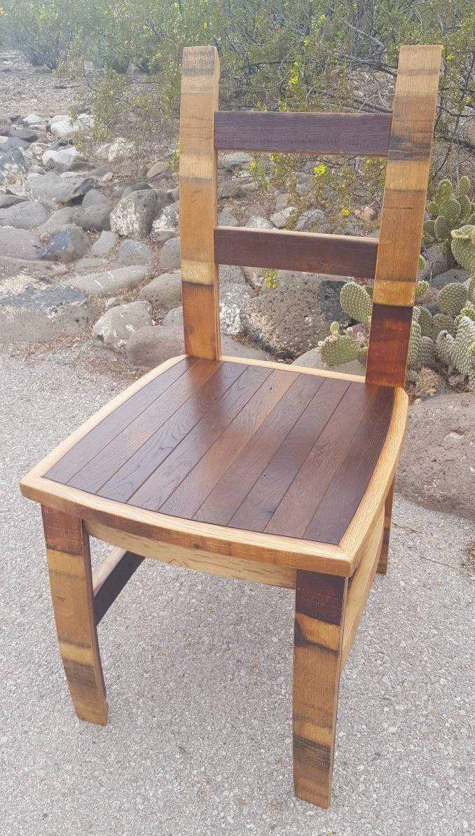 Wine Barrel Chair Seat Dining Office image 1 | Barrel furniture plans, Wine barrel furniture ...