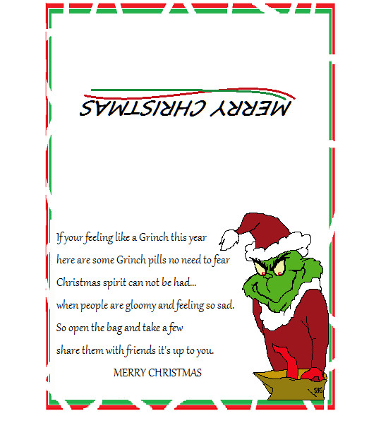 photo regarding Grinch Pills Free Printable identified as Pin upon Most loved fundraisers