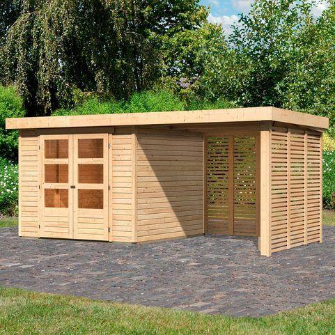 KARIBU Set Gartenhaus »Arnis 3,5«, BxT 491x262 cm, mit