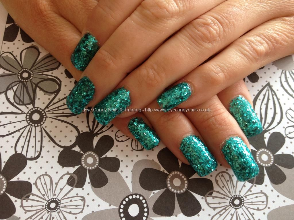 Acrylic+nails+with+full+glitter+dust | NailArt | Pinterest | Glitter ...