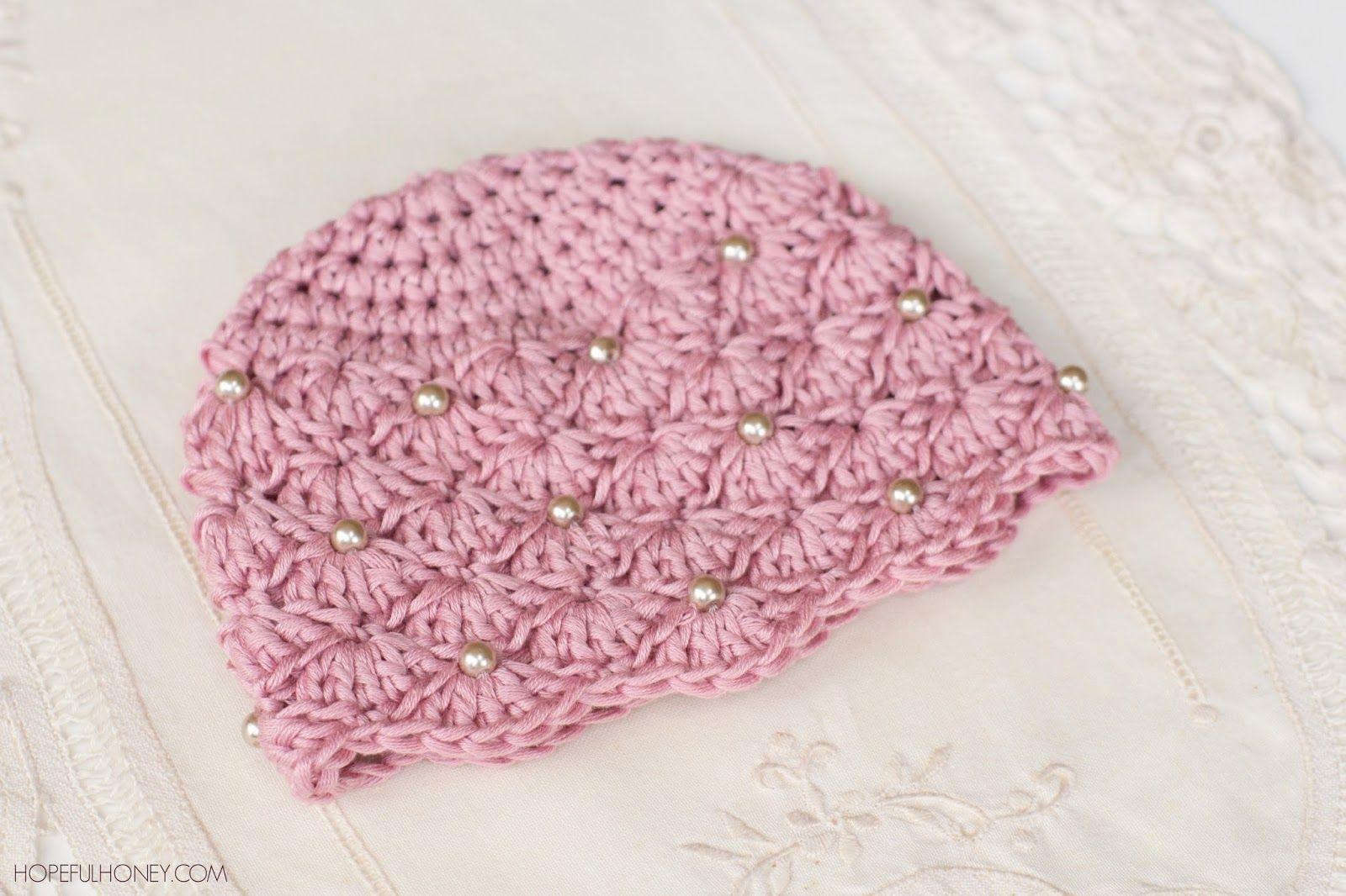Vintage Pearl Baby Hat Crochet Pattern | Dollies by shobha potdar ...