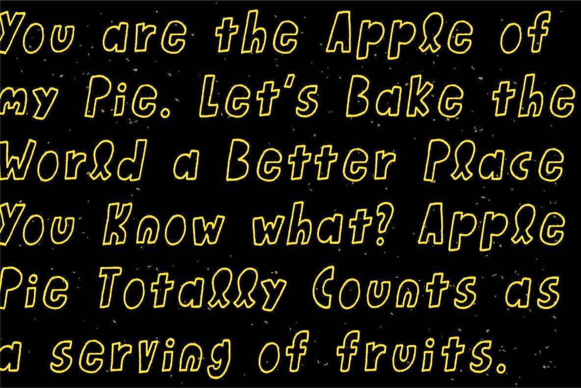 Honey Apple Typeface, Apple, Apple desktop