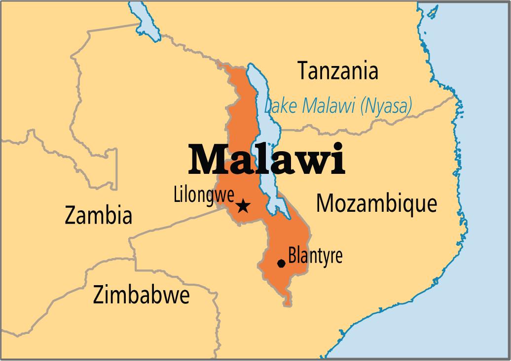 lilongwe malawi africa map