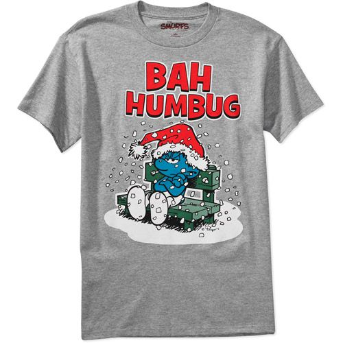 big mens christmas shirts smurfs big mens christmas bah humbug tee mens big