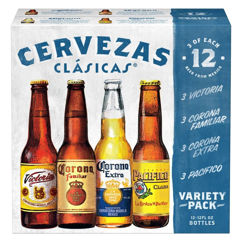 Cervezas Clasicas Lager Beer Variety Pack 12pk 12 Fl Oz Bottles In 2020 Beer Beer Gift Sets Lager Beer