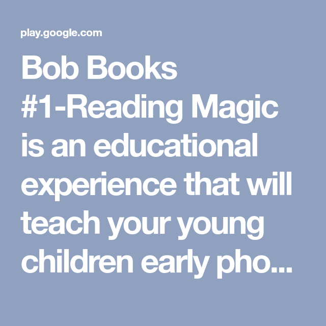 Bob Books 1 Reading Magic Is An Educational Experience That Will
