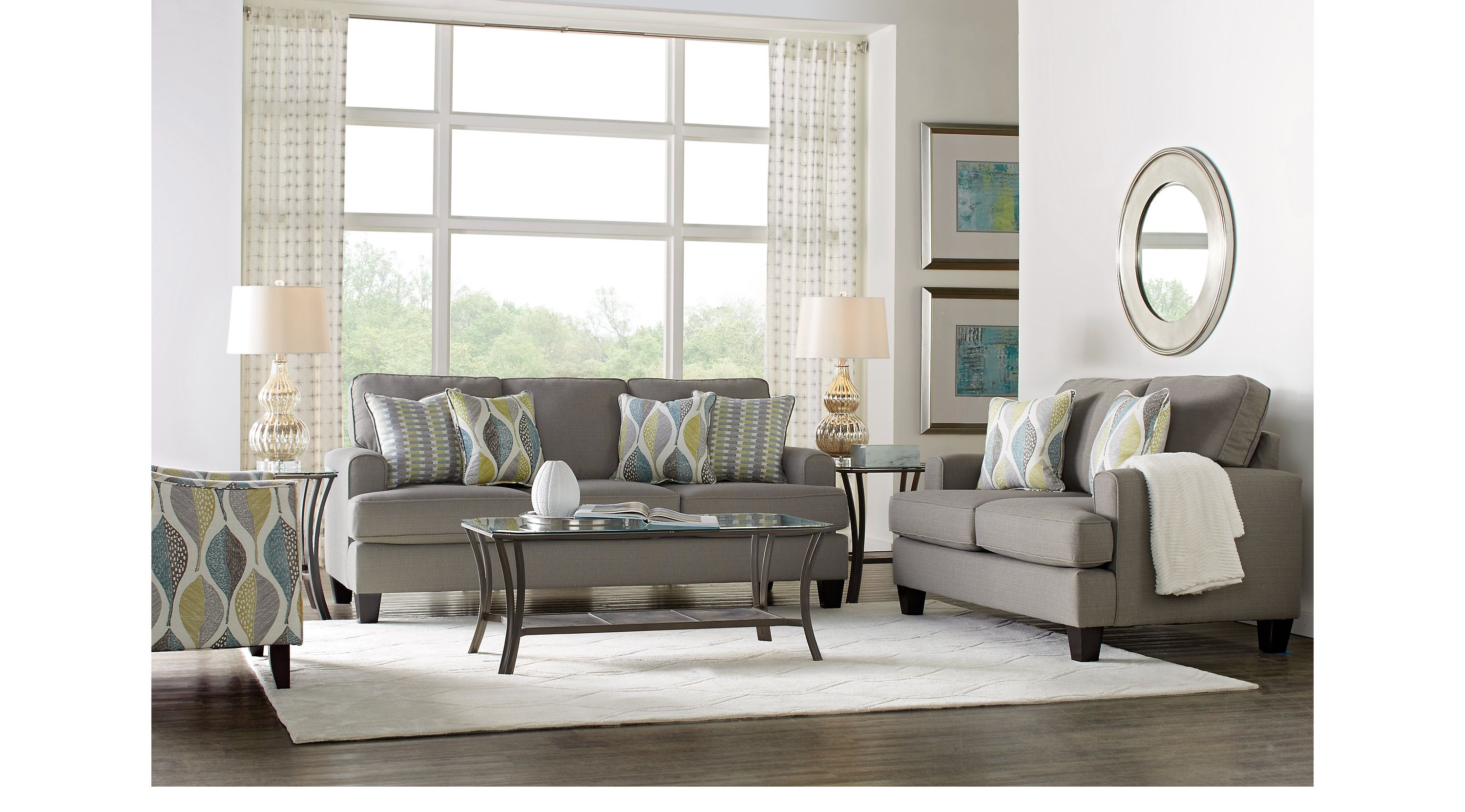 Cypress Gardens Gray 5 Pc Living Room  Living Room