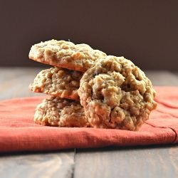 Chewy Spiced Oatmeal Raisin Cookies. These cookies elicit fond memories of childhood.