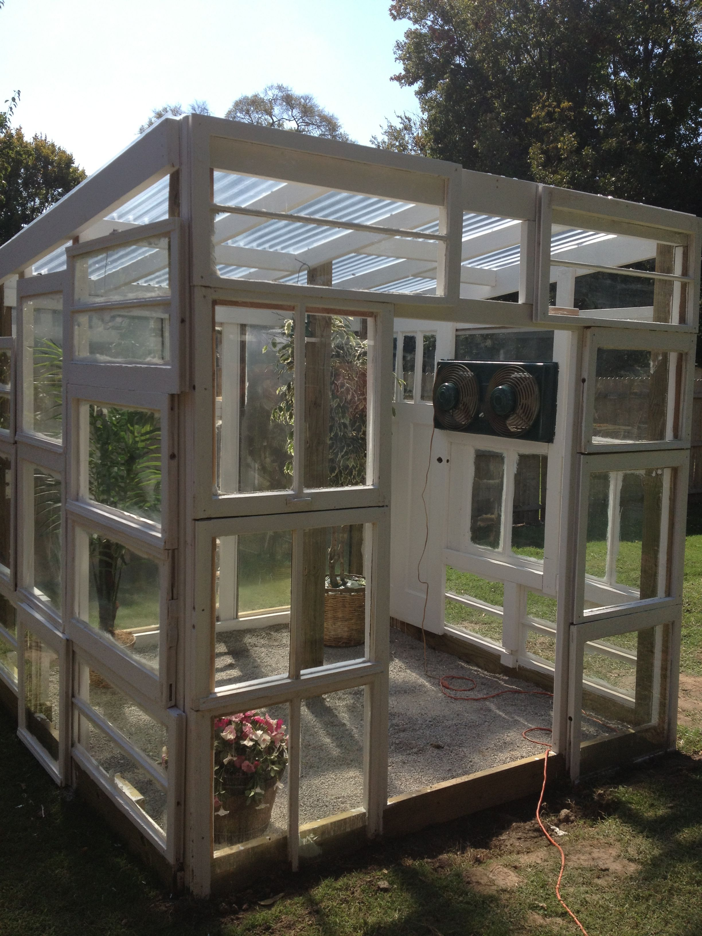 New Greenhouse From Old Windows I Love Love Love This