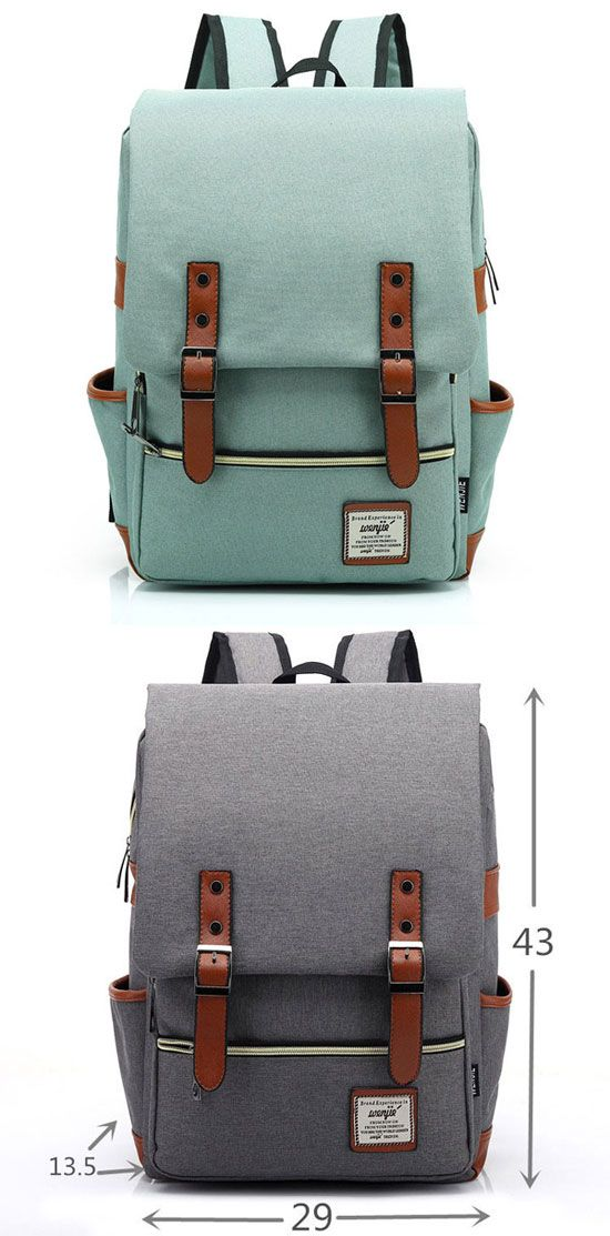 Which color do you want? #backpack #canvas #gray #bag #school #college #cute