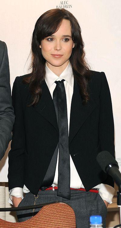 Ellen Page Ellen Page Women Wearing Ties Menswear Inspired