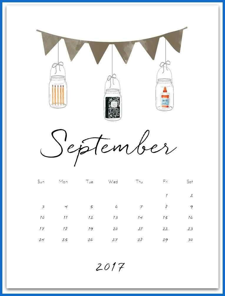 Kalender - Kalender september 2017