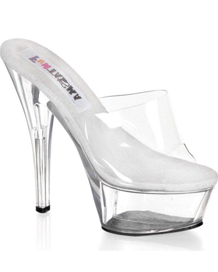 Princess Clear Platform Womens Shoes  #MardiGras